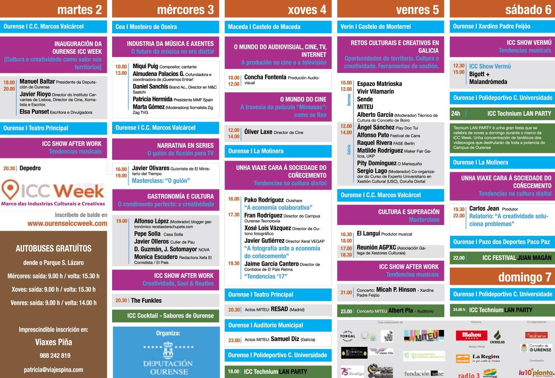 Calendario Icc.Icc Week Ourense Dani Canovas